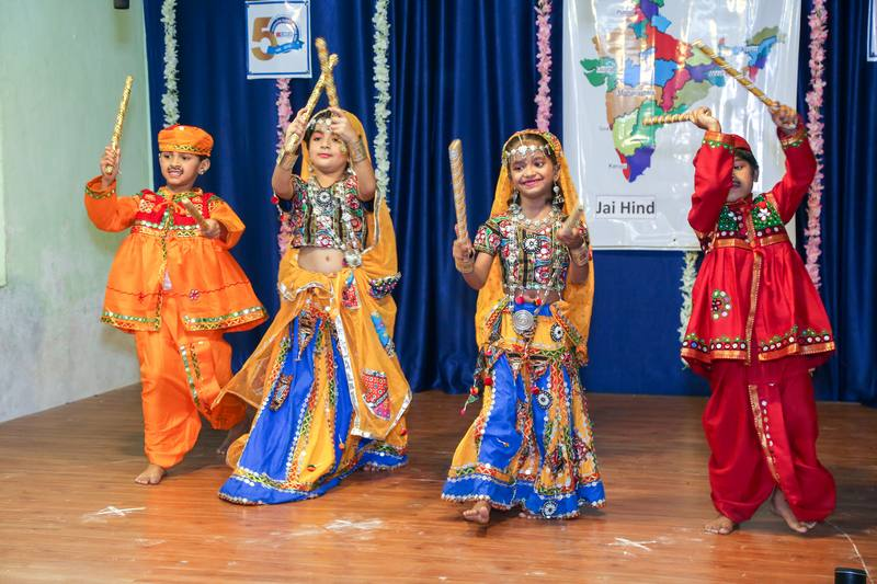 Shake with the dance moves of garba