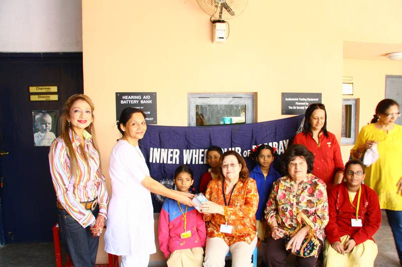Inner Wheel club gave a substantial contribution towards our CSED Battery Bank
