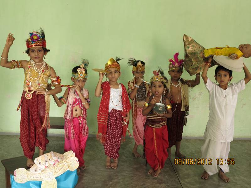 Skit by Ujwala's class depicting various avatars of Lord Krishna